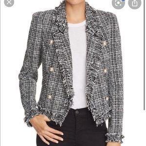 New Aqua tweed jacket cropped S
